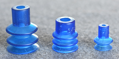 blue bellows suction cups